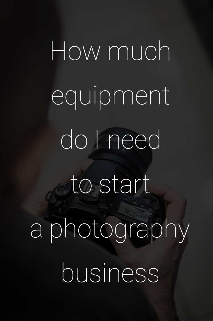 How Much Equipment Do I Need To Start A Photography Business