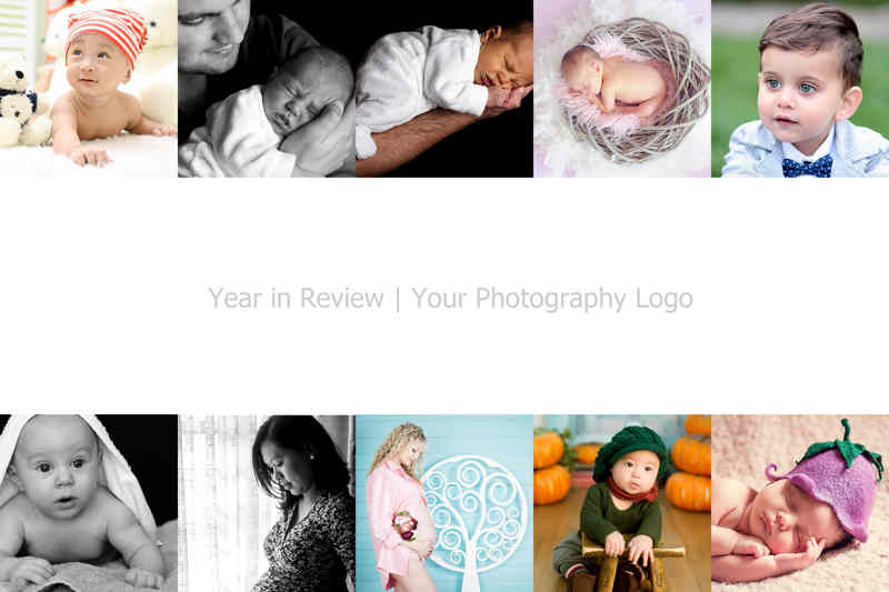 Year in review with logo and 10 photos