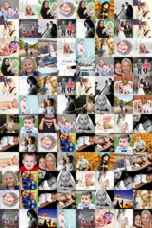 Year in review portrait template