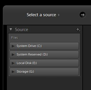 select a source
