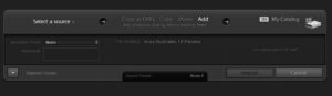 Lightroom Import settings dialog box