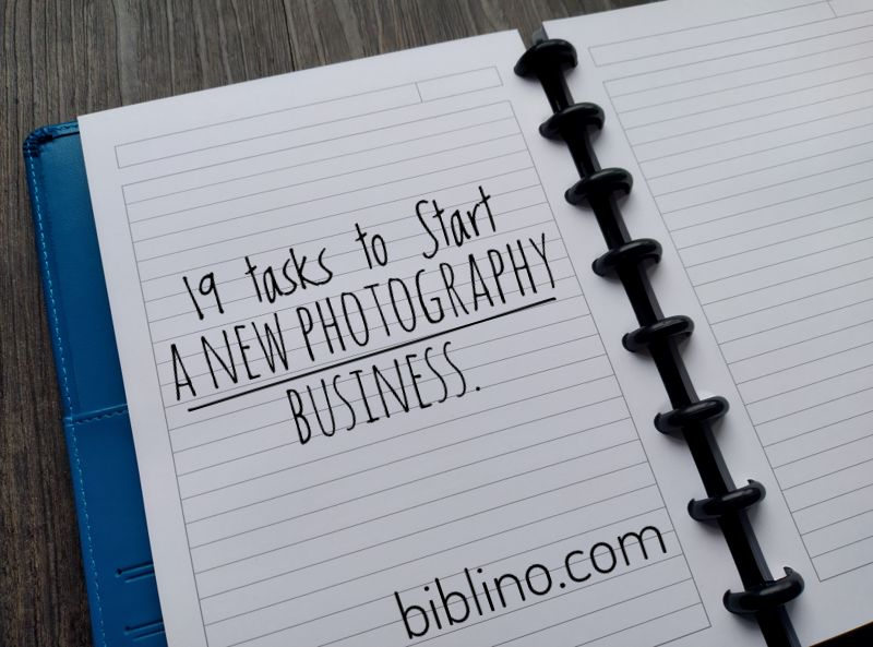 Starting a new photography business