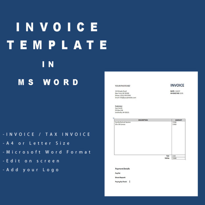 Simple Invoice template